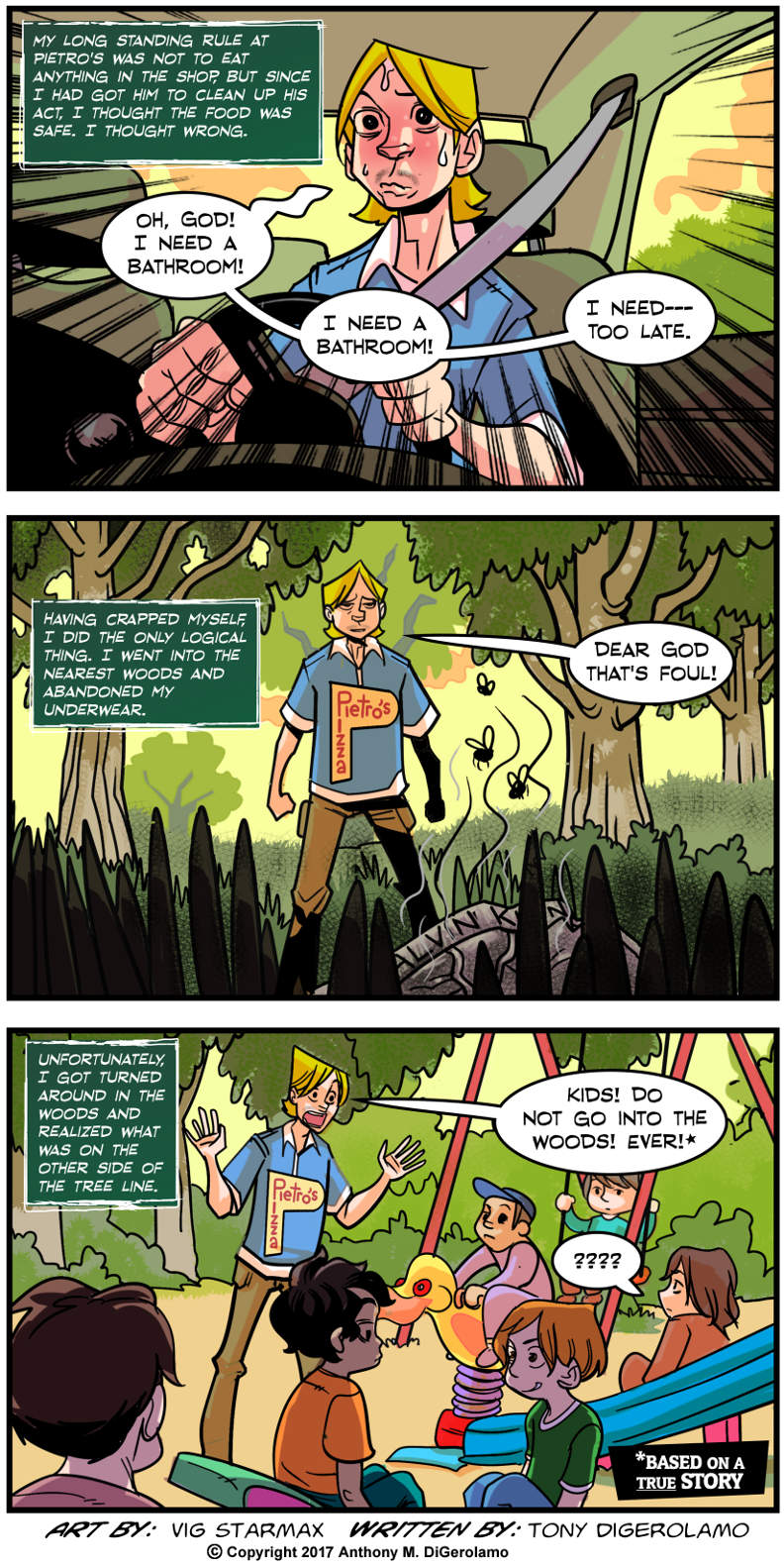 Tales of Pizza:  Surprise in the Woods