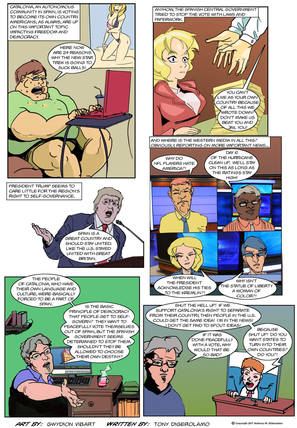The Antiwar Comic:  Is Catalonia Free?