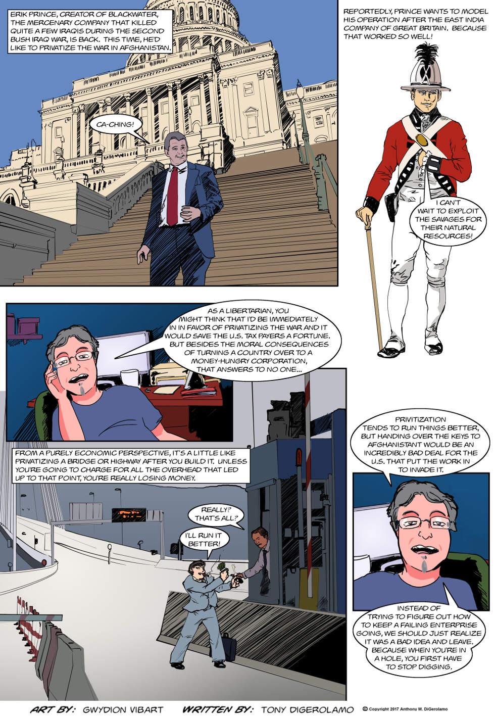 The Antiwar Comic:  Mercenary Prince