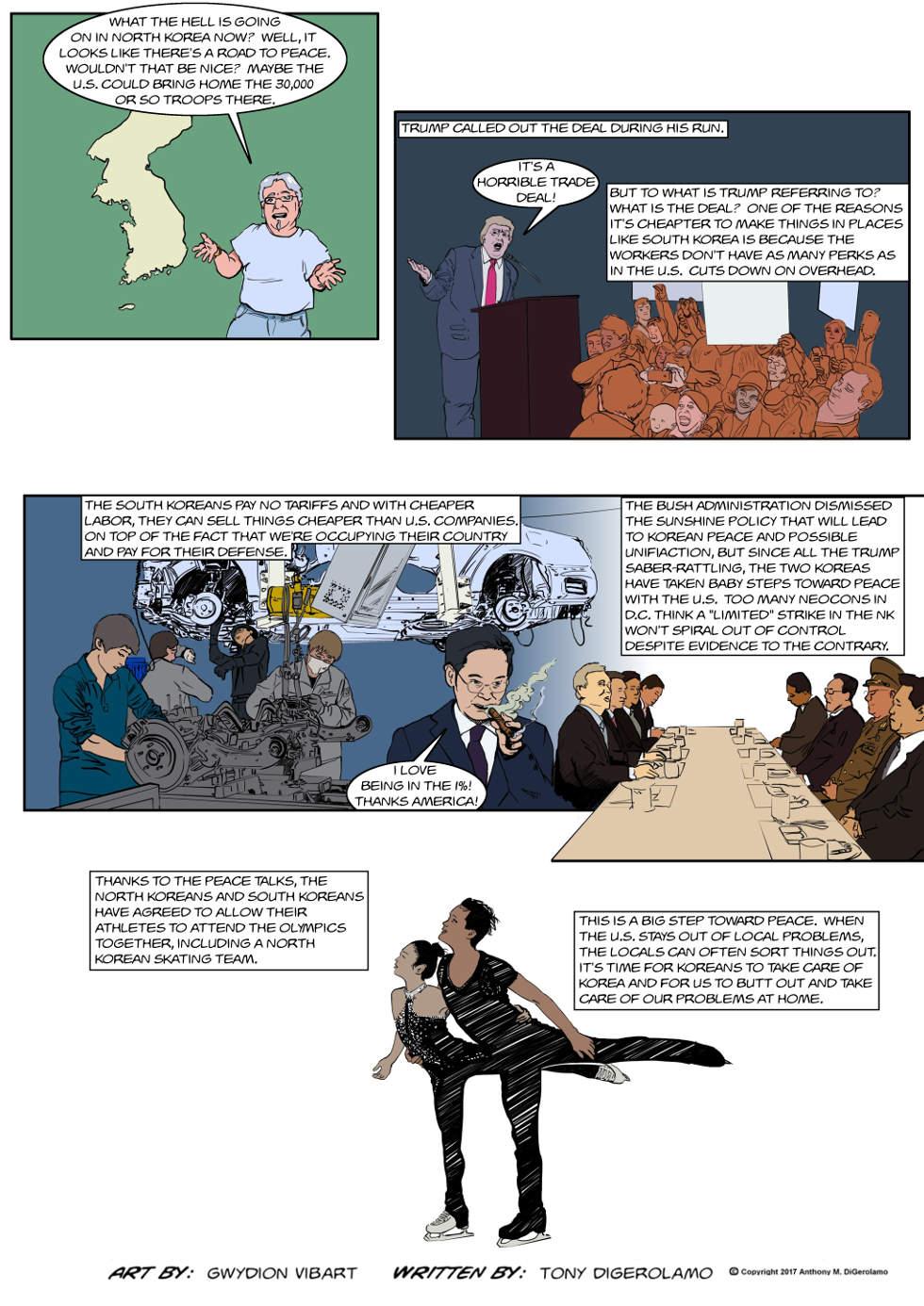 The Antiwar Comic:  The Korea Situation
