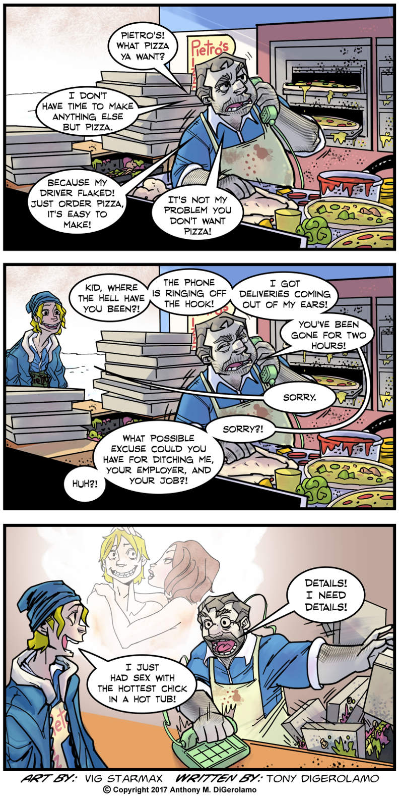 Tales of Pizza:  Work or Details