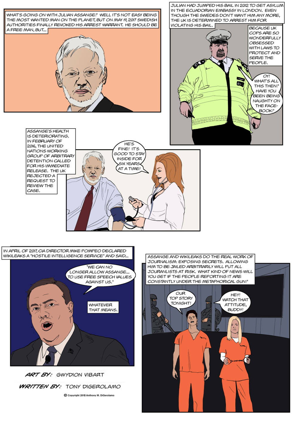 The Antiwar Comic:  Can Julian Come Outside?