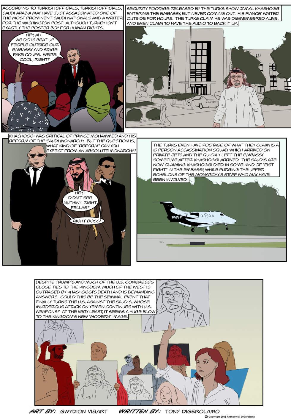 The Antiwar Comic:  The Khashoggi Problem