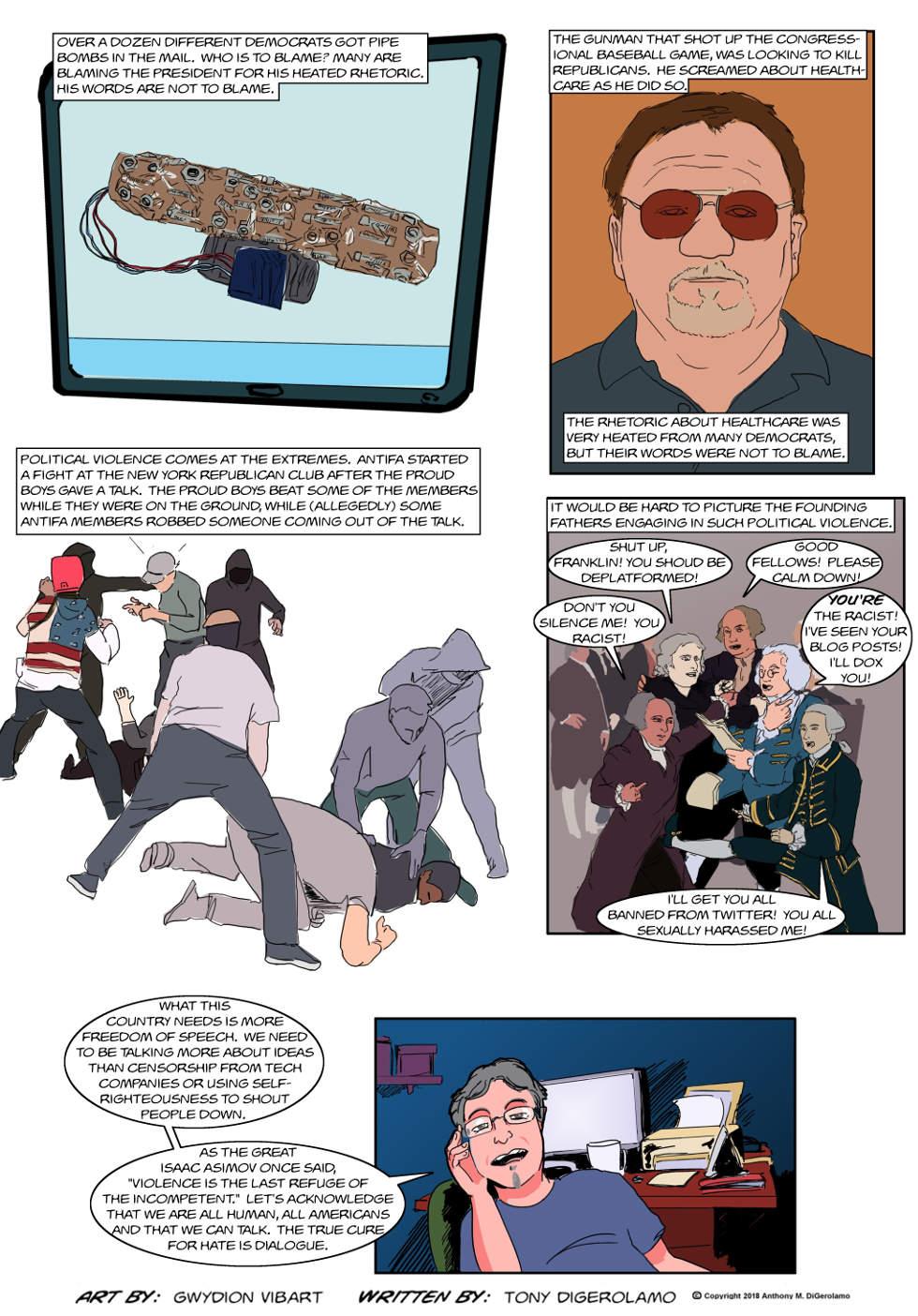 The Antiwar Comic:  Speech is Not Violence