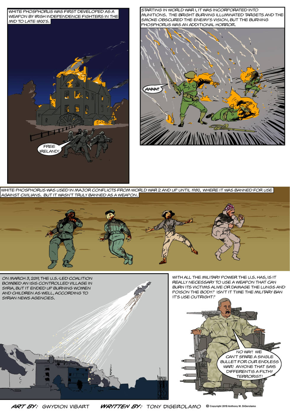 The Antiwar Comic:  White Phosphorus