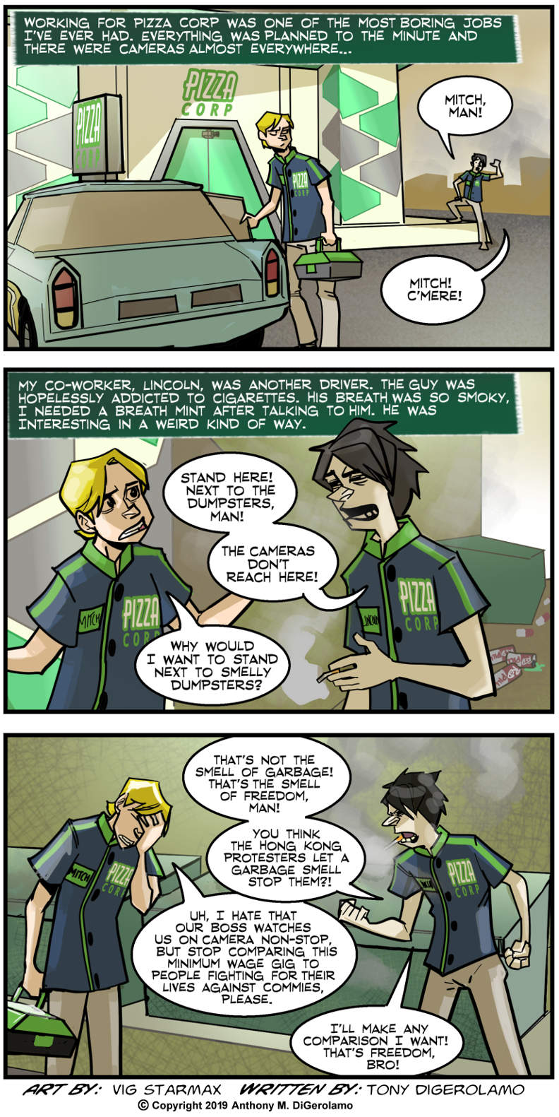 Tales of Pizza:  Freedom's Just Another Word