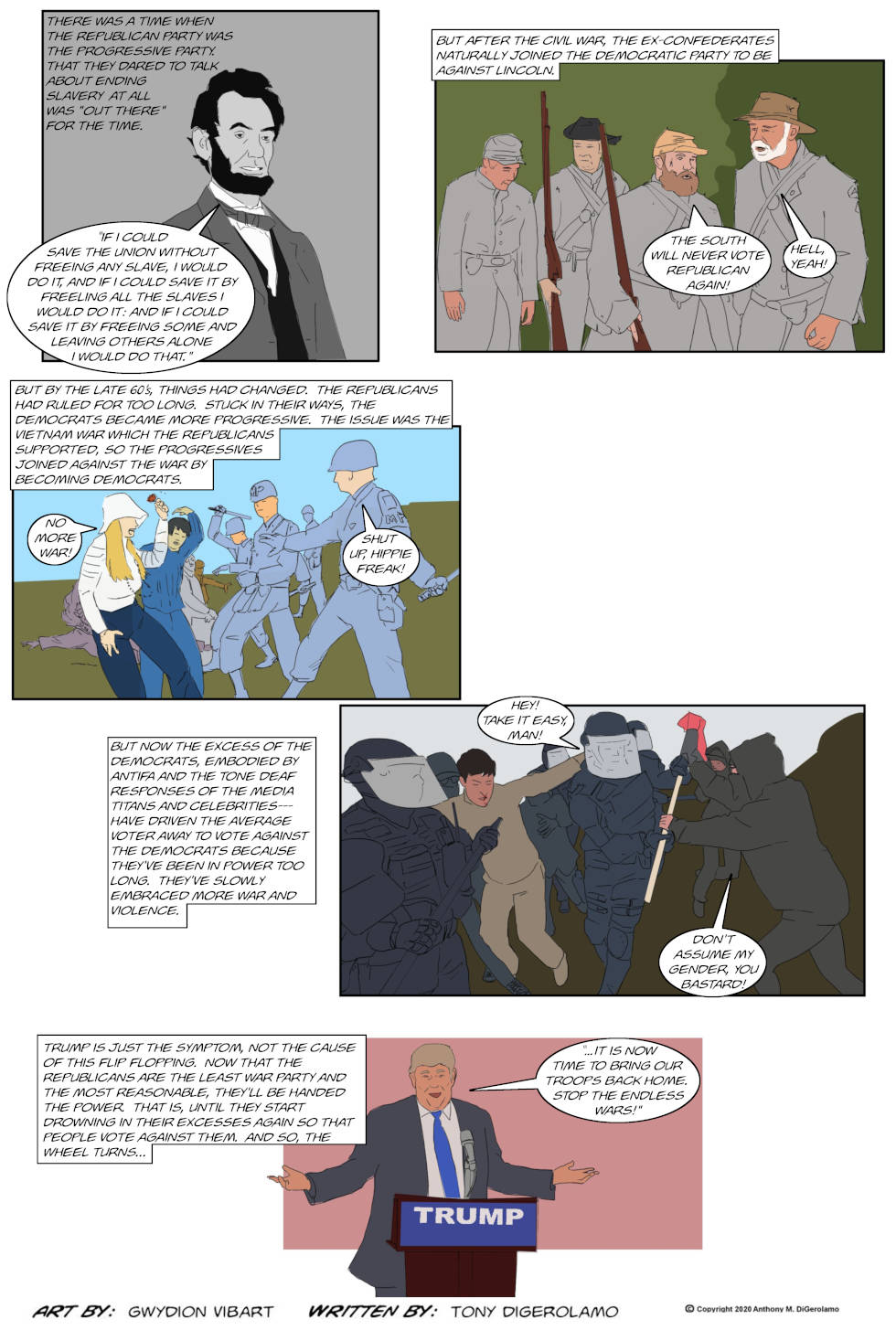 The Antiwar Comic:  The Transition