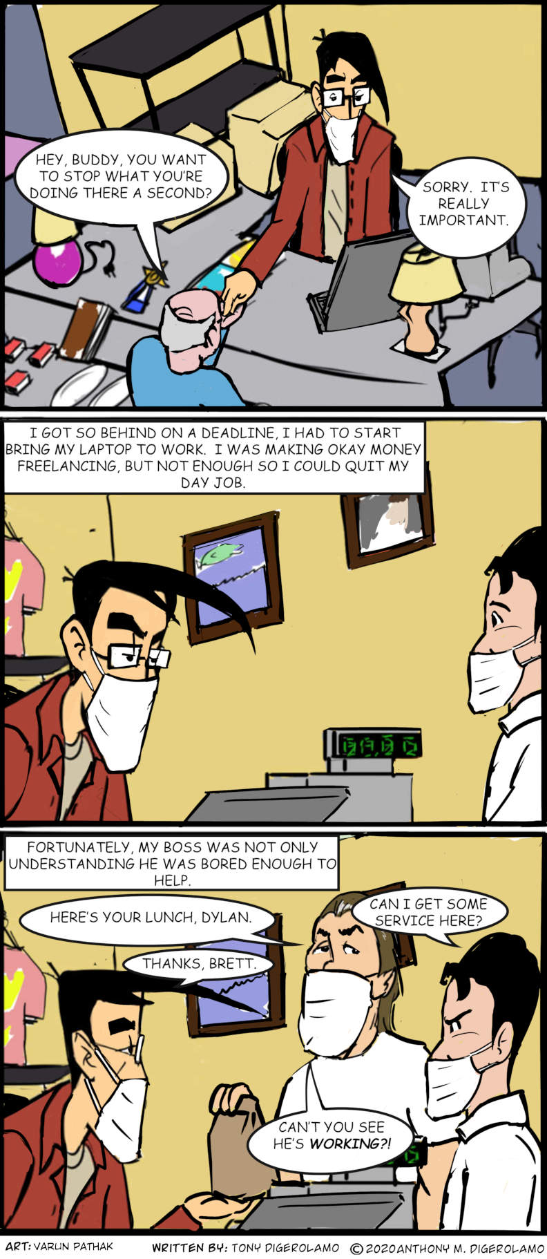 digital hobo:  Working Two Jobs