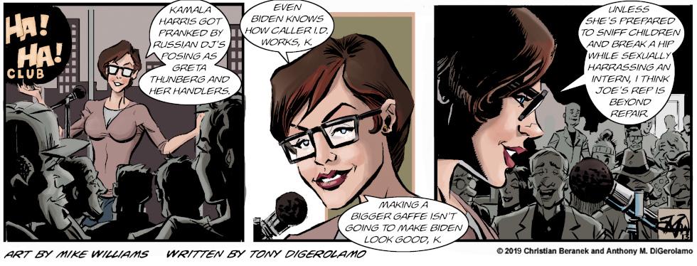 Miserable Comedians:  You Can't Prop Up Joe