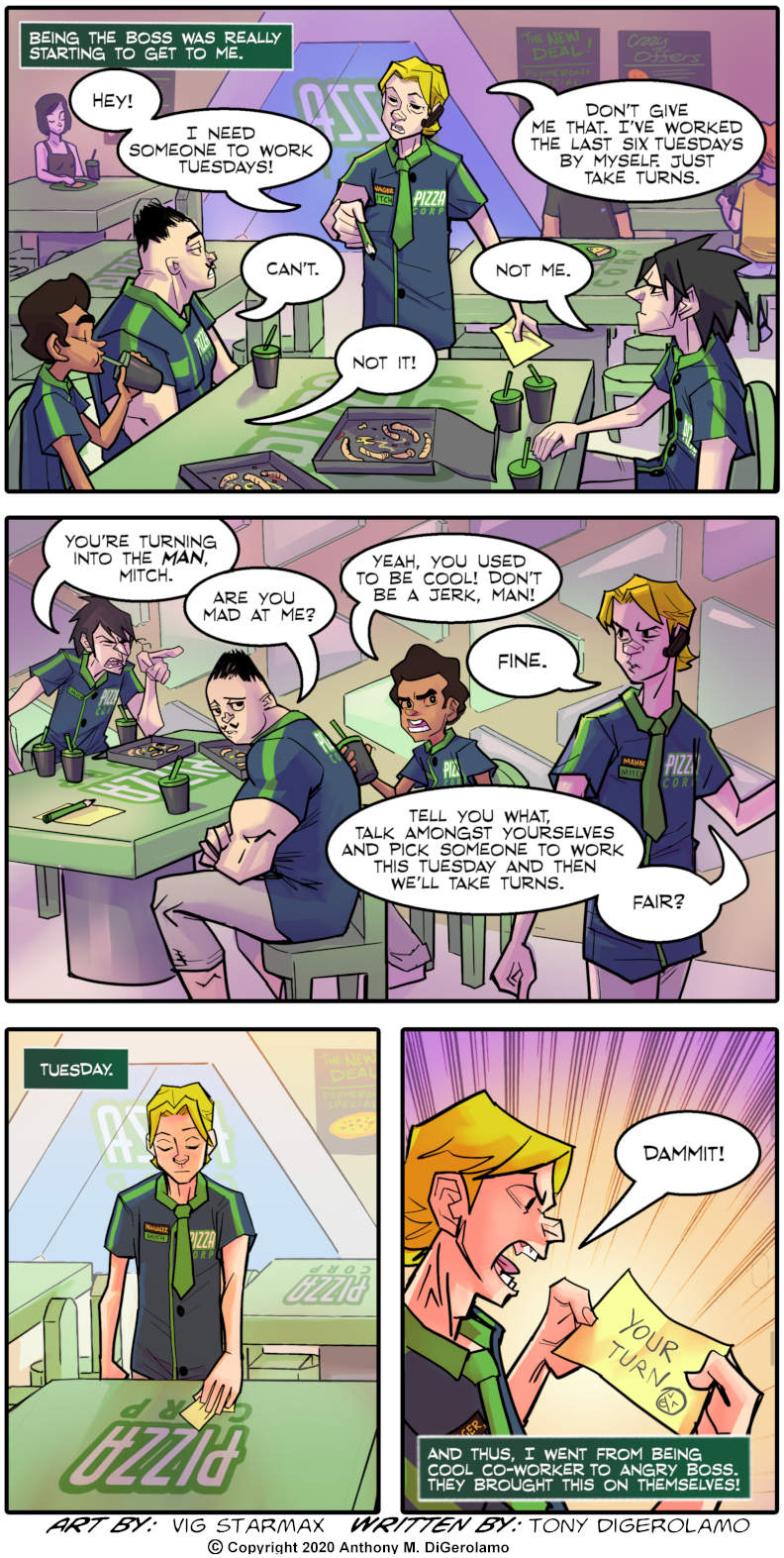 Tales of Pizza:  Becoming the Boss