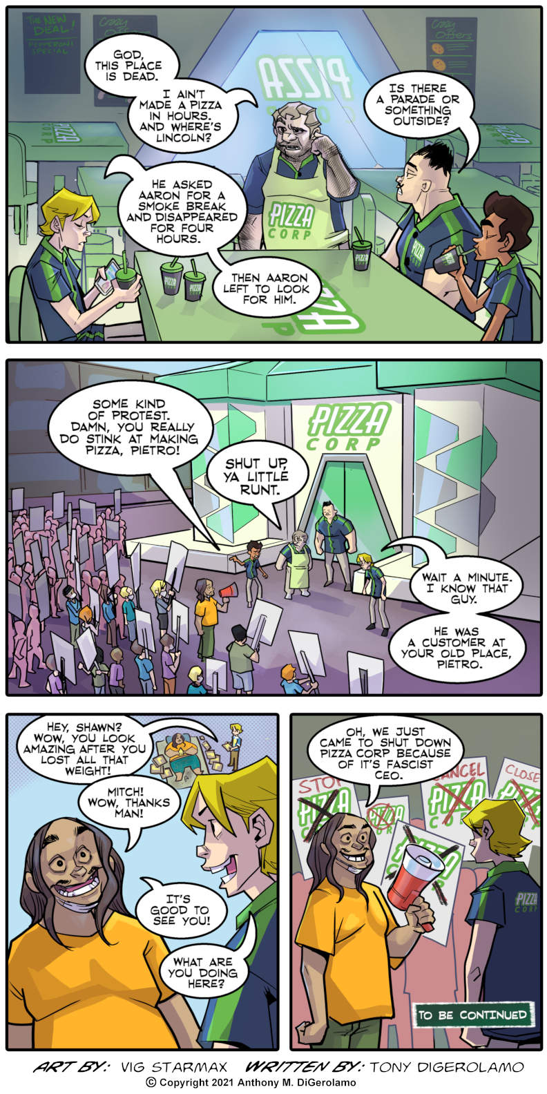 Tales of Pizza:  Protesting Pizza