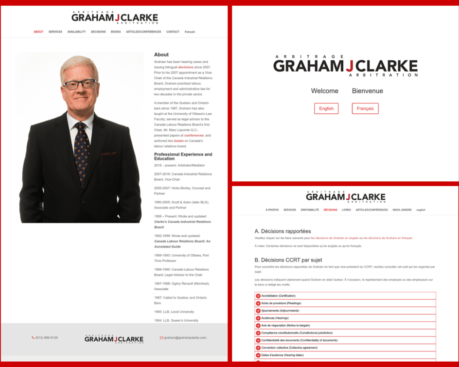 Graham J Clarke Arbitrator Website Design