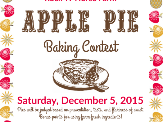 rock n horse farm almonte apple pie contest 2015