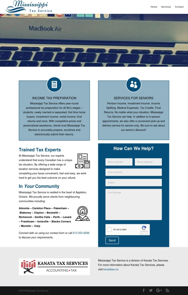 Mississippi Tax Preparation Service Almonte Appleton Ontario