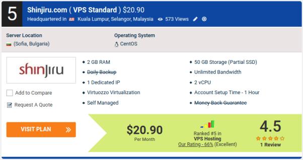 Shinjiru.com ( VPS Standard ) $20.90