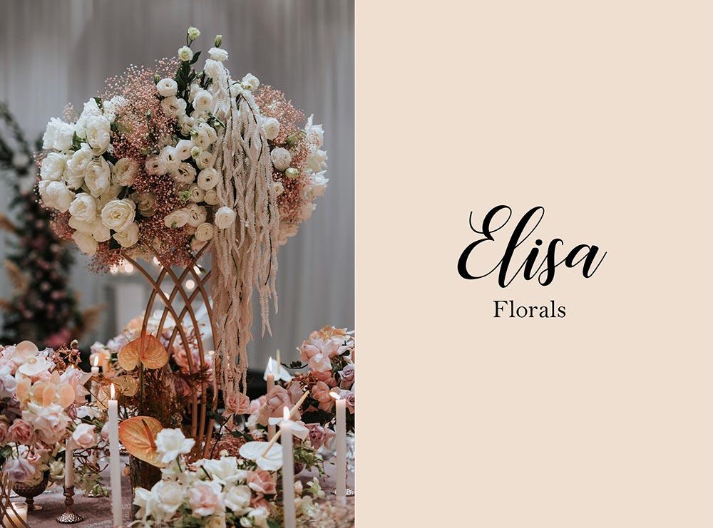 Elisa Florals - Malaysia wedding florist. www.theweddingnotebook.com