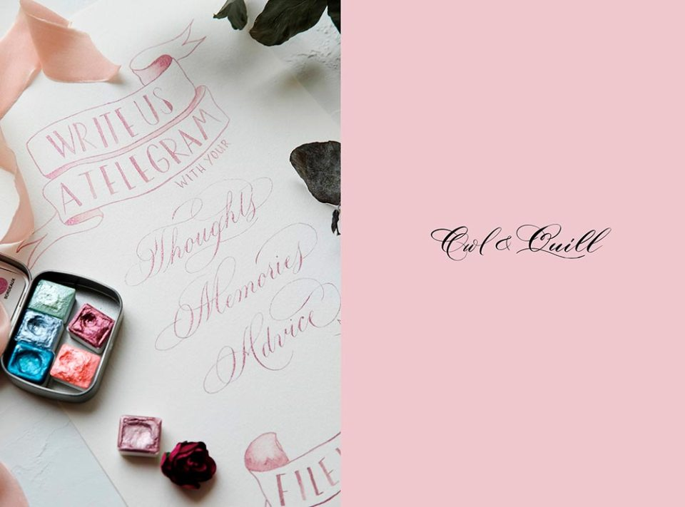 Owl and Quill Calligraphy - Malaysia wedding calligraphy. www.theweddingnotebook.com