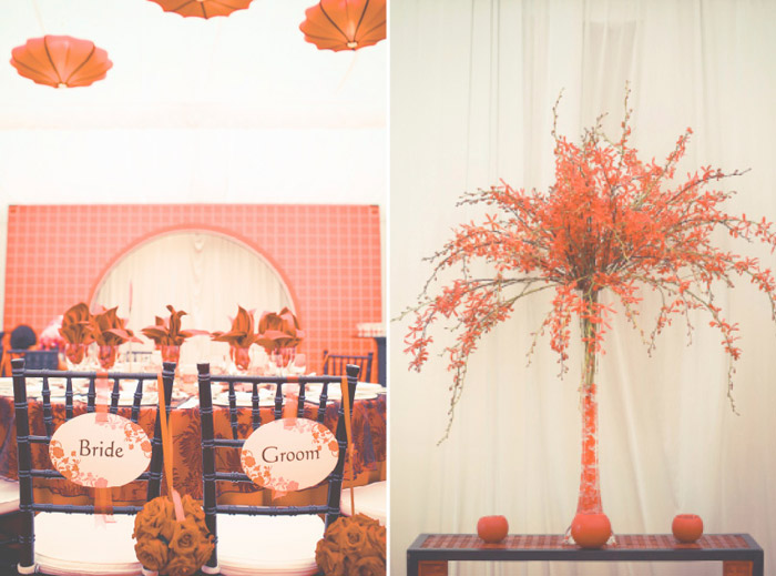 Oriental wedding décor. Photography by One Eye Click. www.theweddingnotebook.com