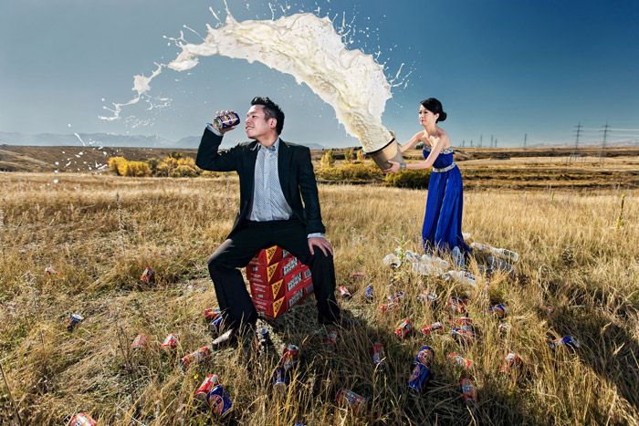 Conceptual bridal portraits by Raymond Phang Photography. www.theweddingnotebook.com