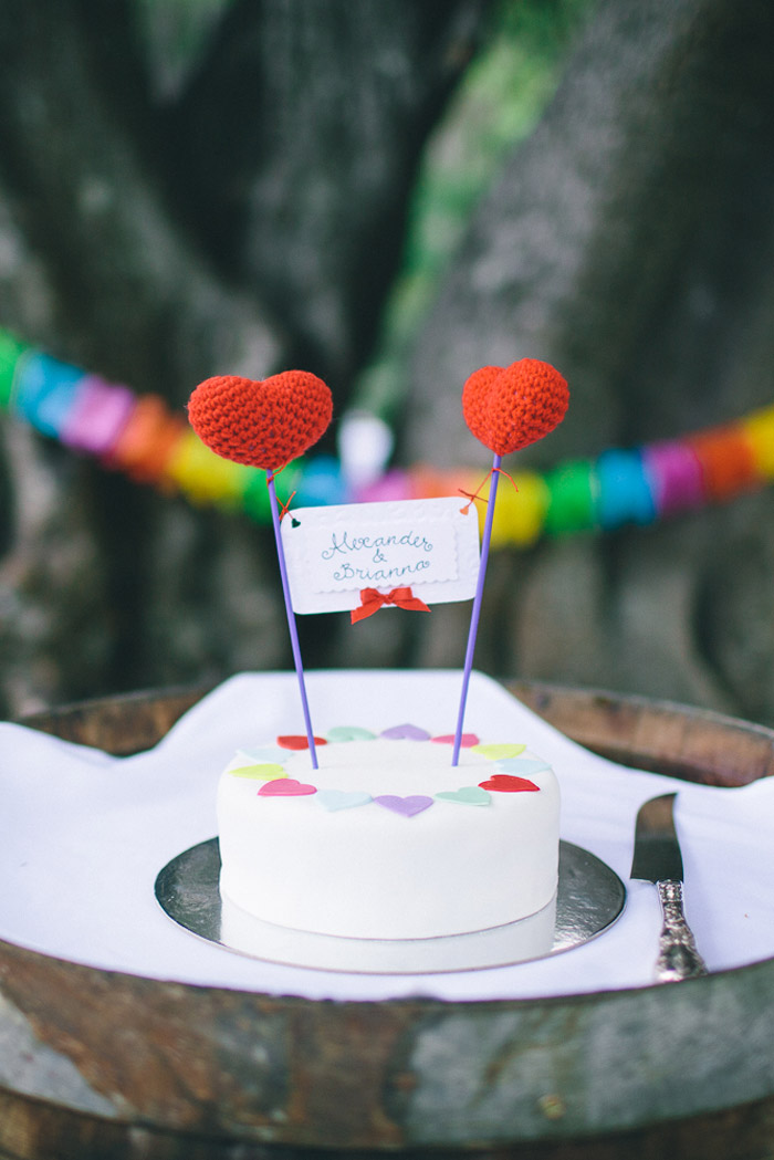 Colourful cake. Photography by Shane Shepherd. www.theweddingnotebook.com