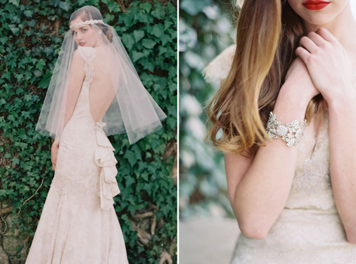 Enchanted Atelier by Liv Hart SS 2014 Collection – Eloise Headband with Marie Belle Veil and Isabella Cuff