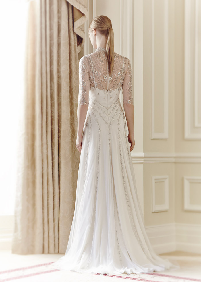 Alexia (back) – Jenny Packham Spring 2014 Collection. www.theweddingnotebook.com