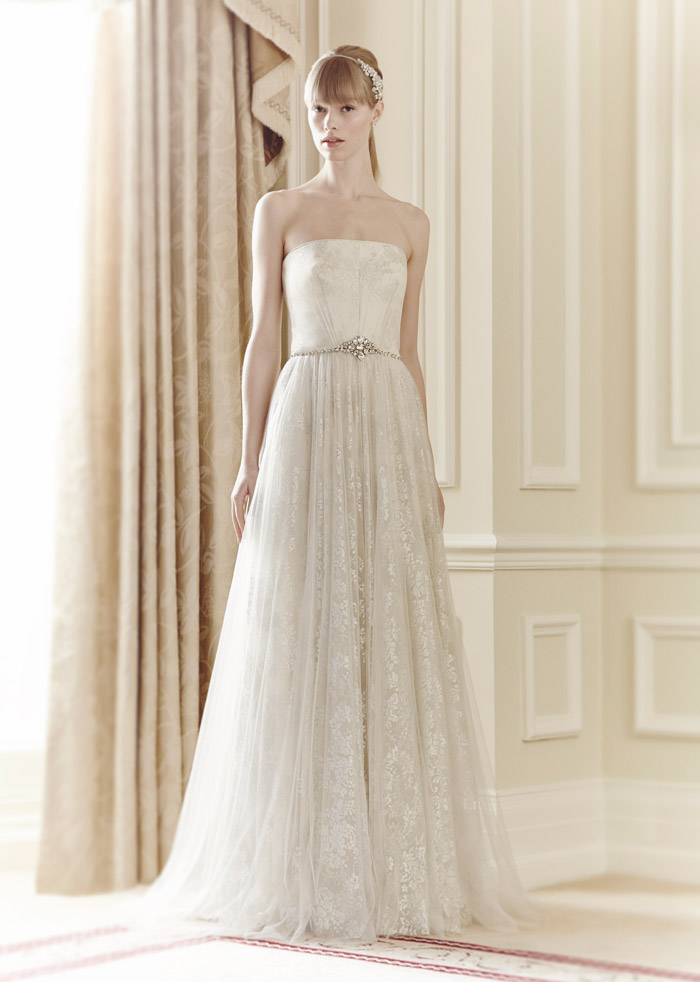 Theresa – Jenny Packham Spring 2014 Collection. www.theweddingnotebook.com