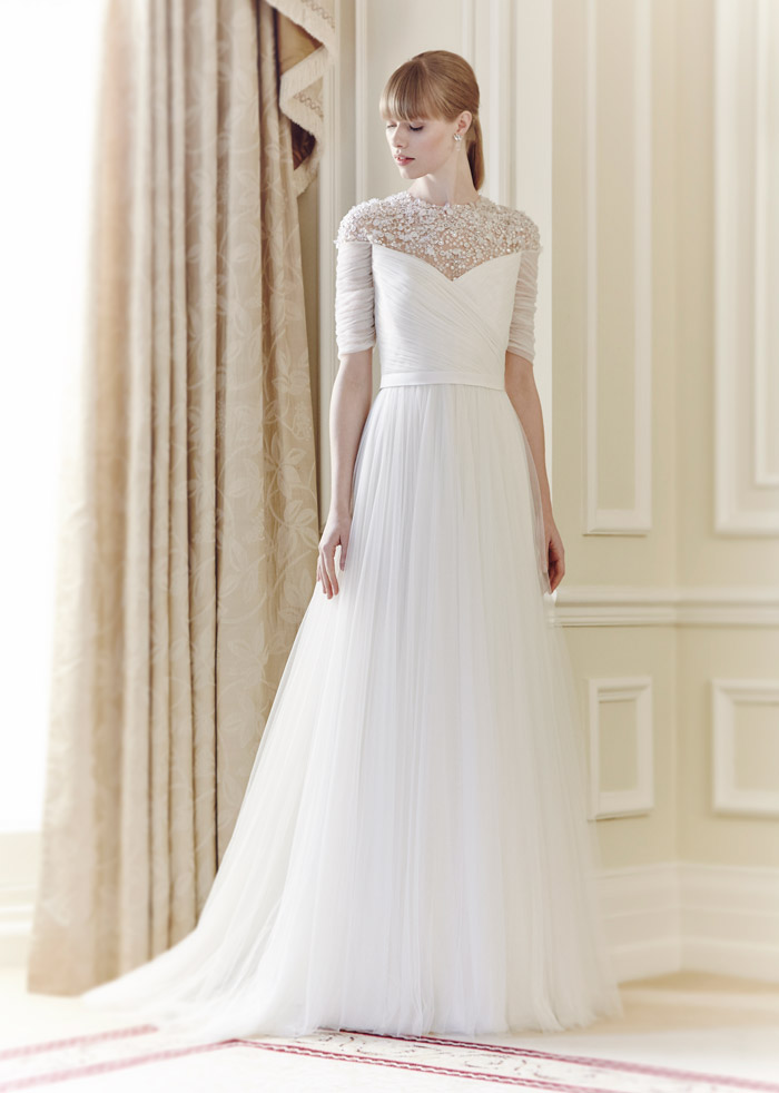 Mary – Jenny Packham Spring 2014 Collection. www.theweddingnotebook.com