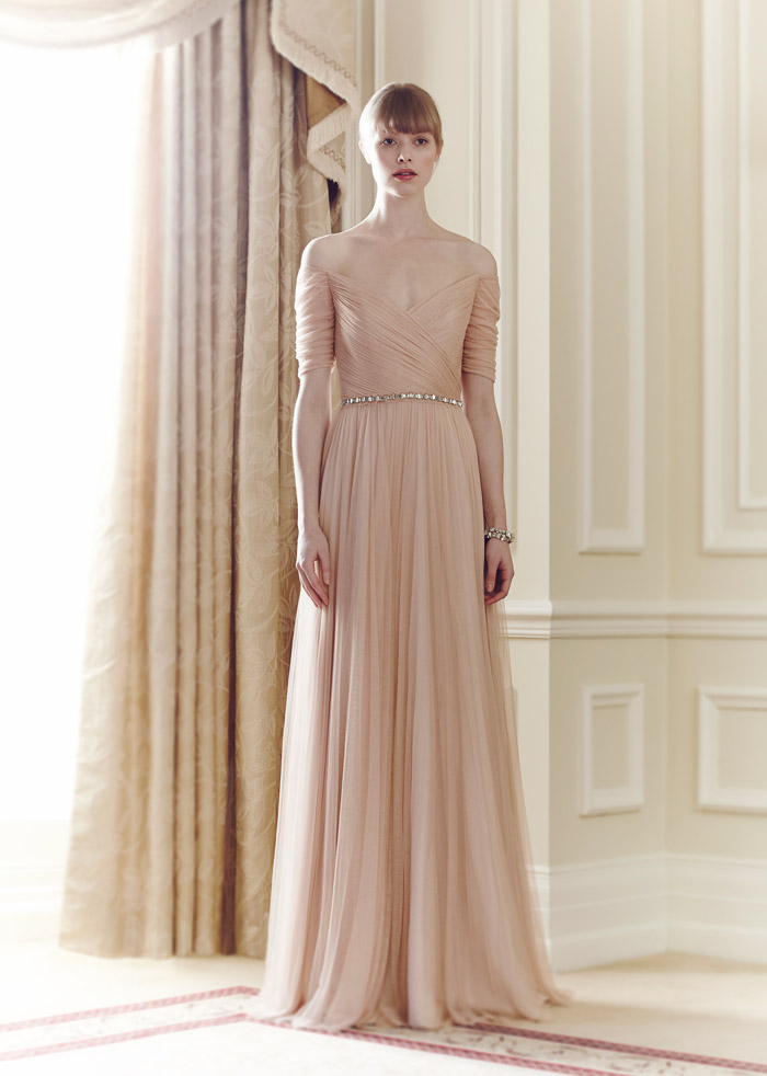 Belle – Jenny Packham Spring 2014 Collection. www.theweddingnotebook.com