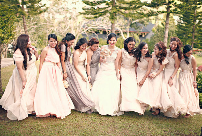 Bridesmaids' Dresses Roundup. Photo by Wedoitforlove. www.theweddingnotebook.com