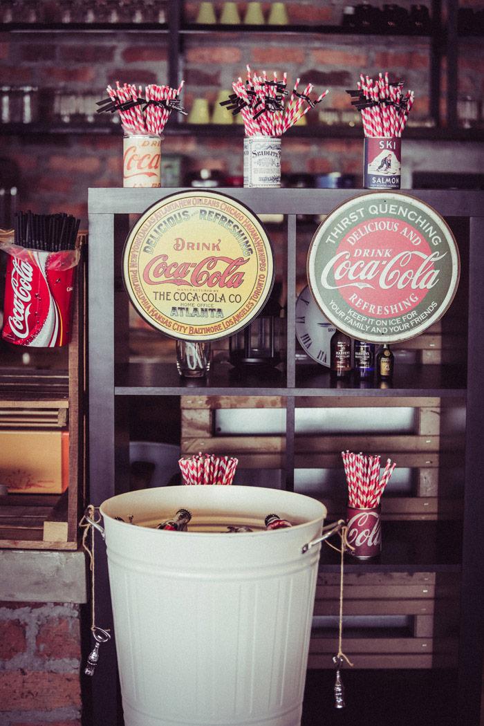 Vintage Coke theme. Photo by WeiMin. www.theweddingnotebook.com