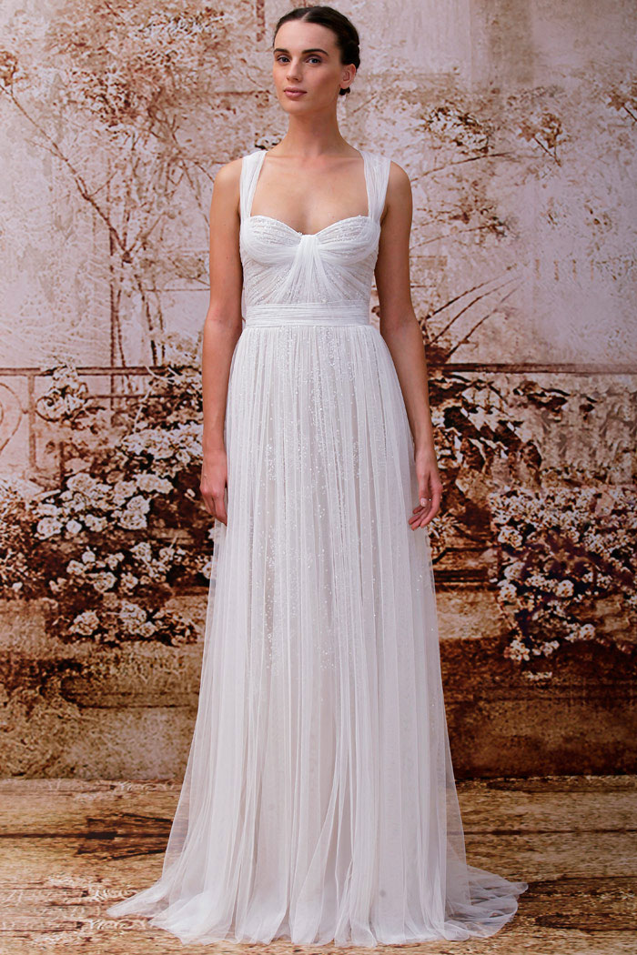 Monique Lhuillier Fall 2014 Bridal Collection. www.theweddingnotebook.comm