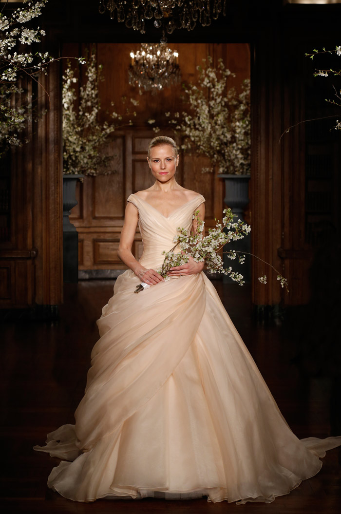 Romona Keveza Couture Spring 2014 Bridal Collection. www.theweddingnotebook.com. 1800's – Victoriana. While the preferred choice of this era was the white wedding gown, thanks to Queen Victoria, her daughter Princess Anne boldly chose to marry in blush