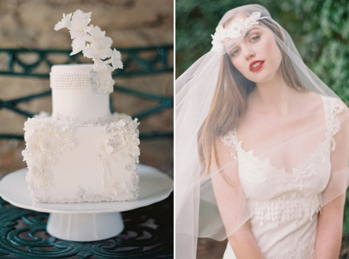Left: Maggie Austin Cake; Right: Enchanted Atelier by Liv Hart. www.theweddingnotebook.com