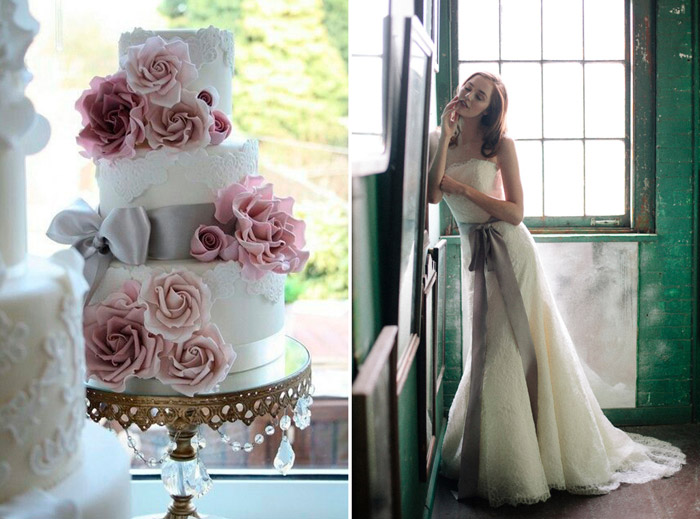 Left: Cotton & Crumbs; Right: Sareh Nouri – New York. www.theweddingnotebook.com