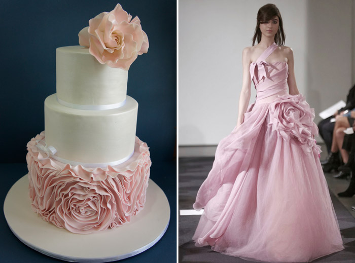 Left: Miss Shortcakes; Right: Vera Wang. www.theweddingnotebook.com