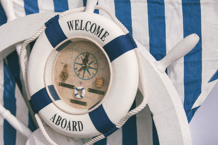 Nautical Themed Reception. Awesome Memories Photography. www.theweddingnotebook.com