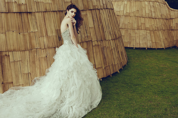 Swarovski Crystal Gown – Jessicacindy Bridal 2014 Collection. www.theweddingnotebook.com