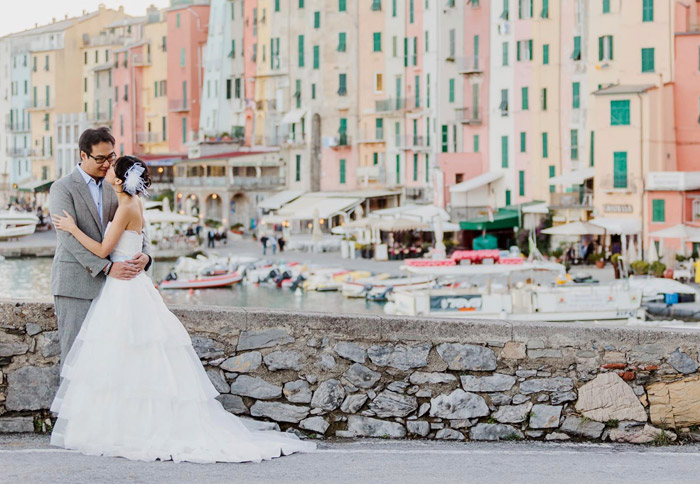 Portovenere, Italy. 16 Colourful Places In The World For Your Bridal Portraits. www.theweddingnotebook.com