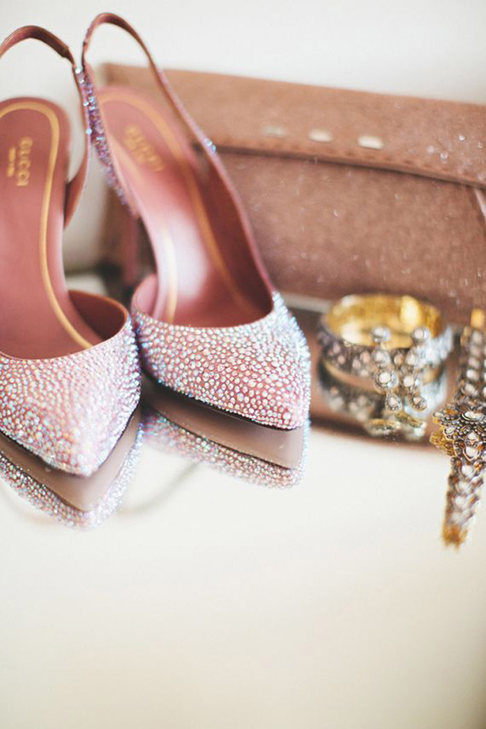 Bridal Shoes by Gucci. Photo by First Mate Photo Co. www.theweddingnotebook.com