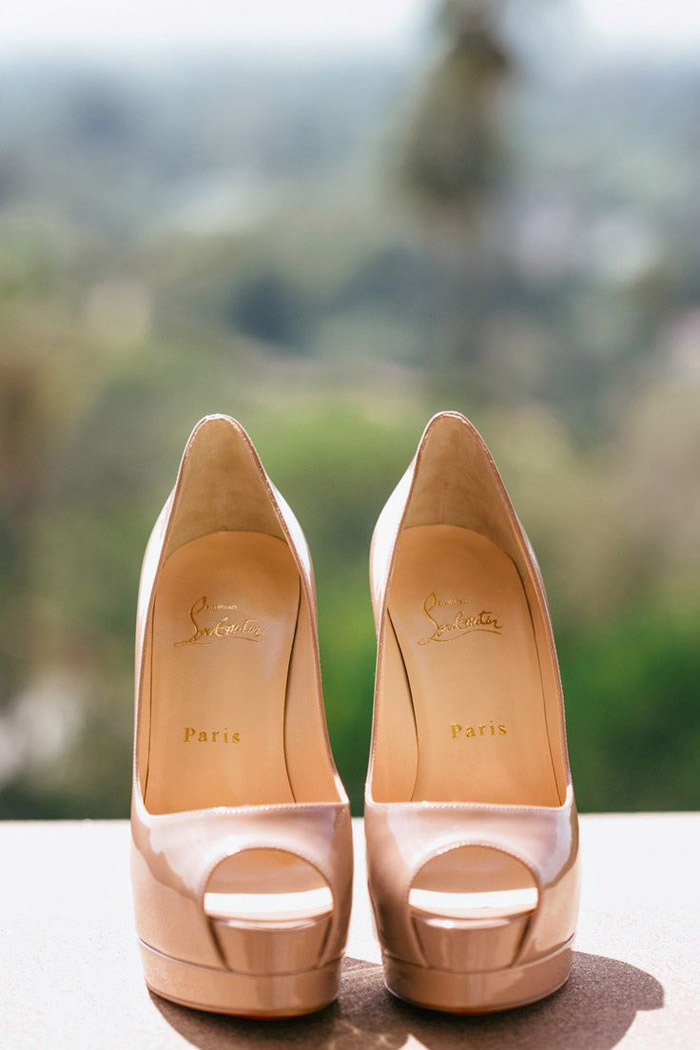 Bridal Shoes by Christian Louboutin. Photo by Kim Le Photography. www.theweddingnotebook.com
