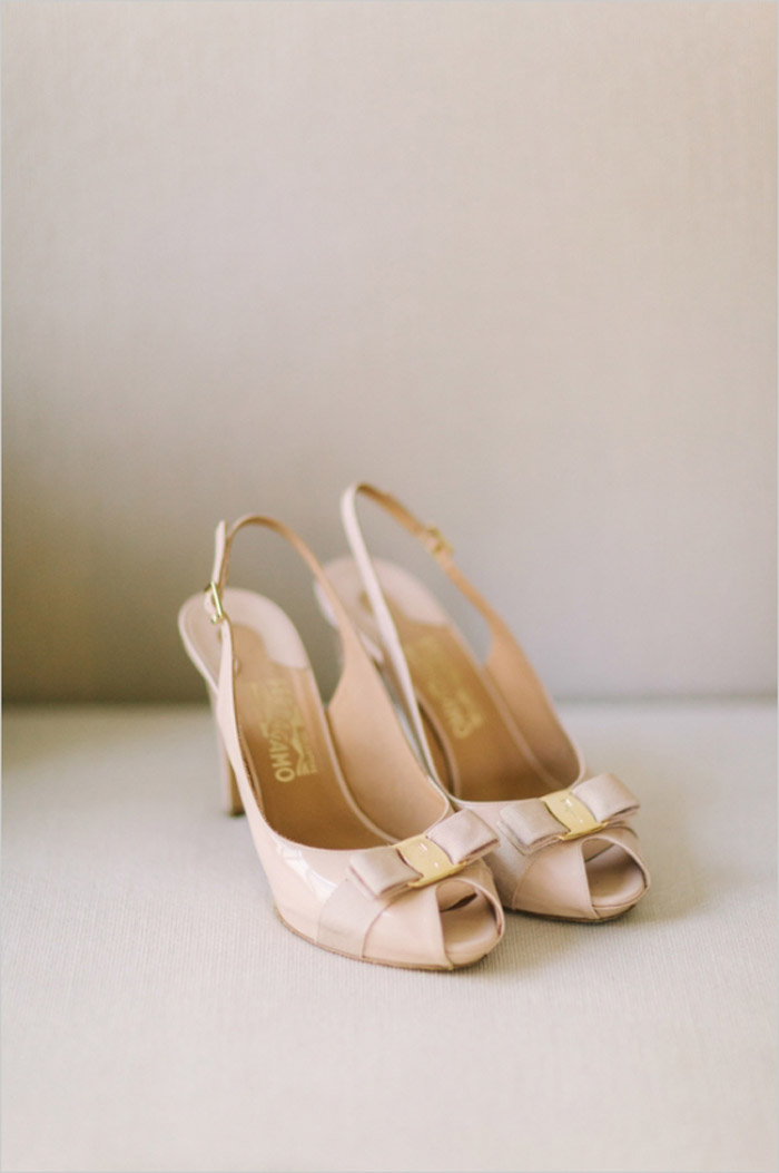 Bridal Shoes by Salvatore Ferragamo. Matt Edge Wedding Photography