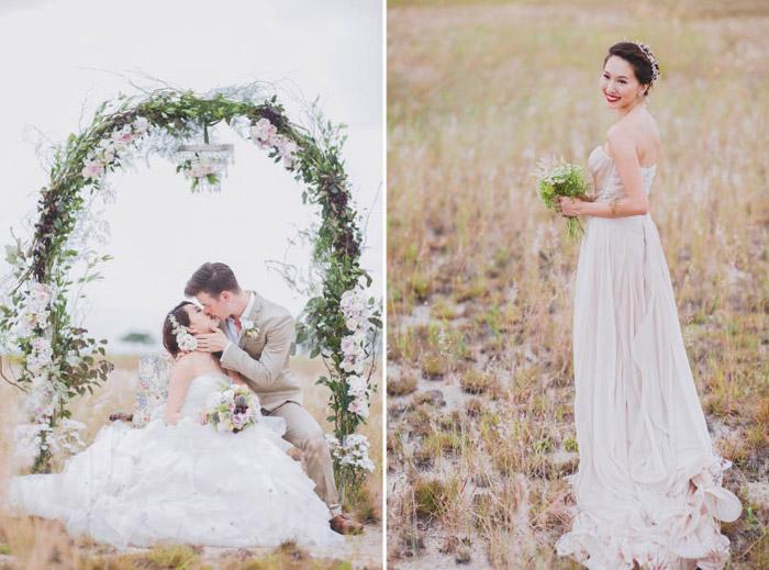 Multifolds Photography. Styling by Heaven In A Wild Flower. www.theweddingnotebook.com