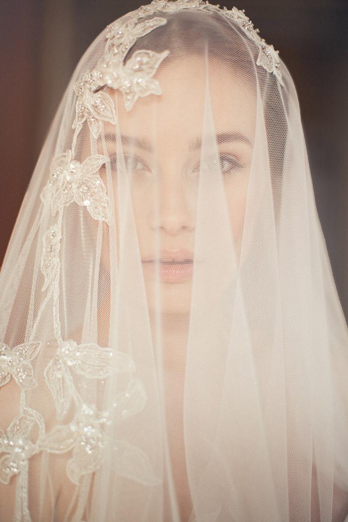 Magda Veil –Jannie Baltzer Couture Headpieces 2015 Collection. www.theweddingnotebook.com