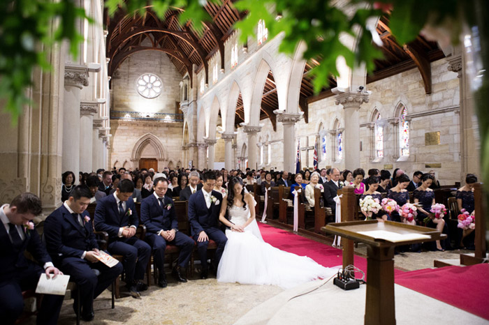 Ceremony wedding at St Thomas' Anglican Church, North Sydney. Photo by Tealily Photography. www.theweddingnotebook.com