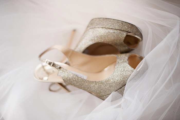 Bridal Shoes by Jimmy Choo. Photo by Tealily Photography. www.theweddingnotebook.com