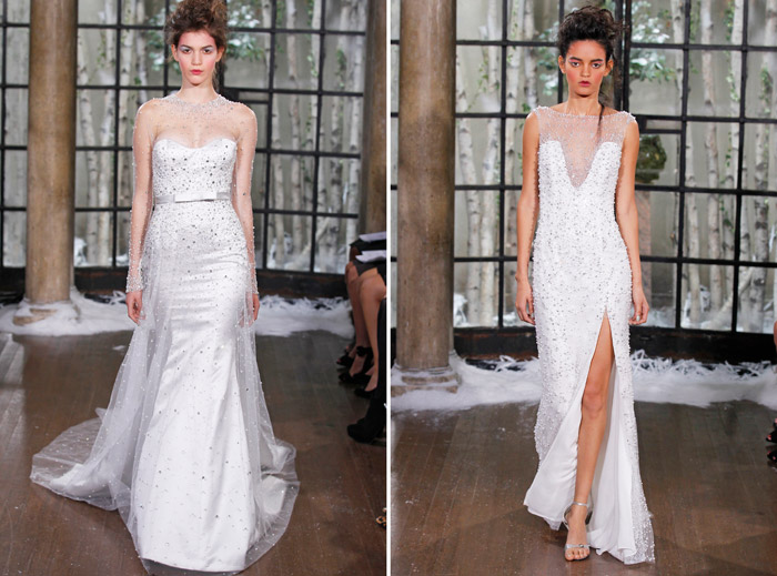 Left: PARIS; Right: ZAROGA – Ines Di Santo Fall 2015 Collection. www.theweddingnotebook.com
