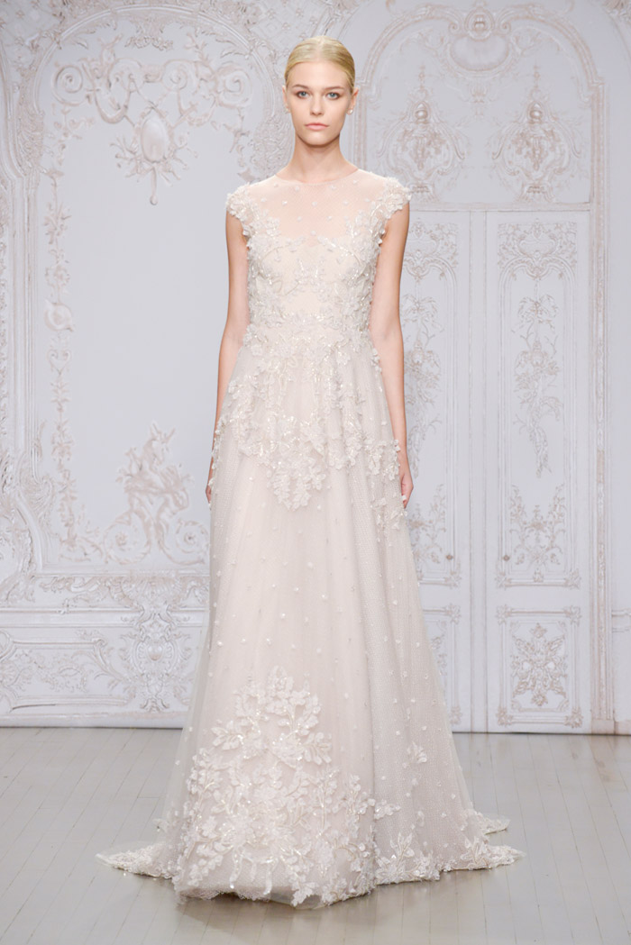 Primrose and Odile shoe – Monique Lhuillier Fall 2015 Bridal Collection. www.theweddingnotebook.com