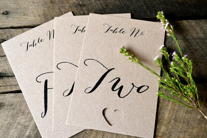 Kraft paper – Affordable paper for your wedding invitations. www.theweddingnotebook.com