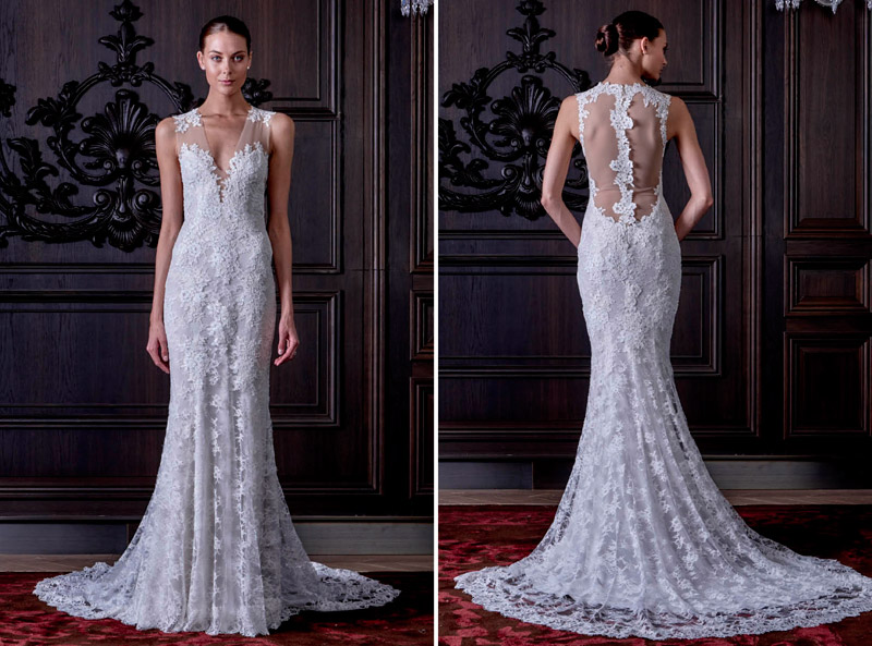 Monique Lhuillier Spring 2016 Bridal Collection. www.theweddingnotebook.com
